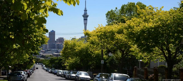 Auckland: Nice city crossing when returning our rental car…